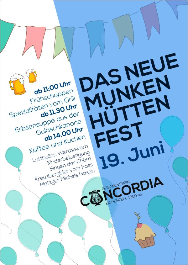 Das neue Munkenhüttenfest So., 19. Juni 2016