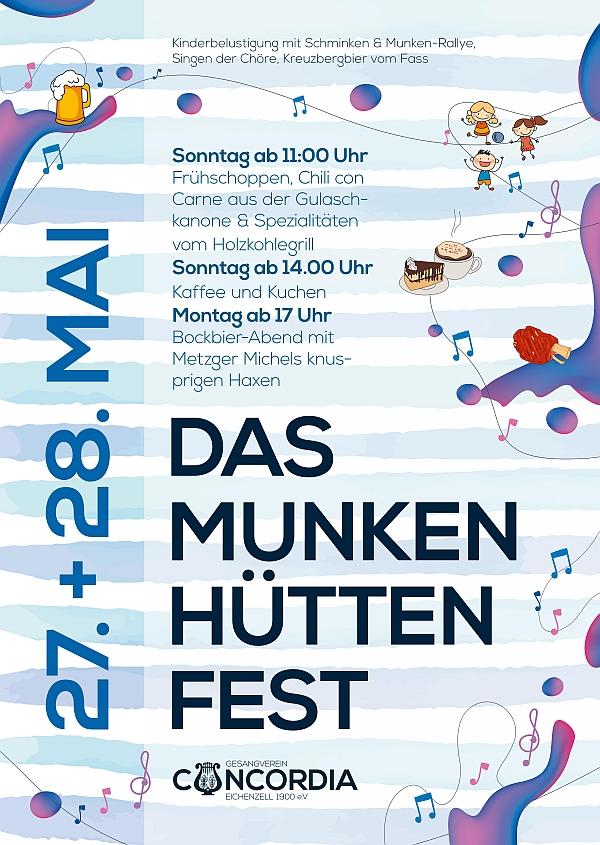 Plakat Munkenhüttenfest 2018
